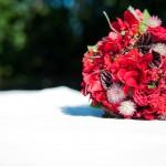 Rød brudebuket